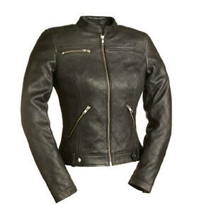 Womans Foxy leather motorcycle Jacket by altimate