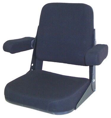 Amih206blf Seat Assembly Black Fabric For International 656 666 706 Tractors