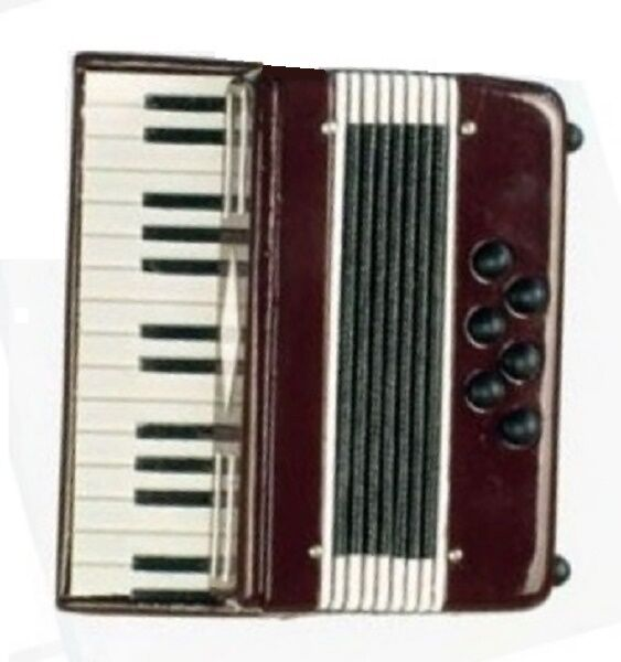 Mini Accordion Perfect for American Girl Doll Music Instrument Accessory BJD