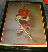 Chicago Black Hawks player/team pics - 8 diff.- 1950's-1960's