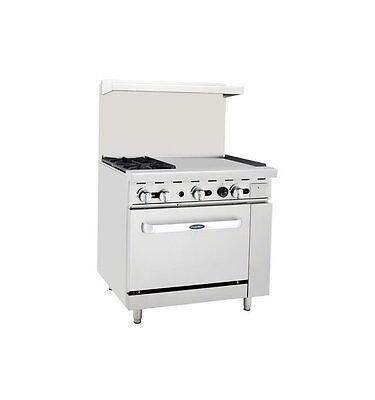 New 36 Range 2 Burners 24 Griddle 1 Full Oven Stove Nat Gas Free Lift Gate