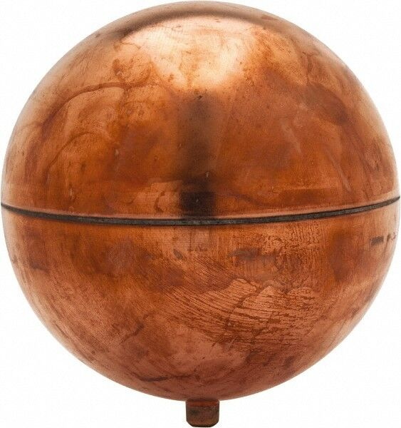 Made in USA 6 Inch Diameter, Spherical, Round Spud Connection, Metal Float 1/...