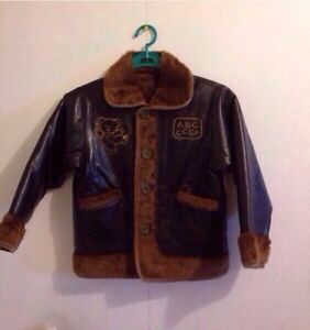 BRAND NEW BOYS REVERSIBLE LEATHER JACKET