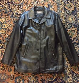 Ben Sherman Leather Jacket. Size LGE. Brand new never worn.