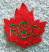 1943 Royal Canadian Army Cadets 13 point Red Maple Leaf patch