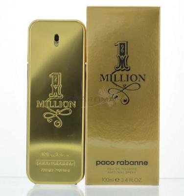 1 Million By Paco Rabanne  Eau De Toilette 3.3 OZ For Men NEW for sale  Shipping to India