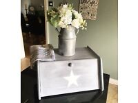 Handpainted shabby chic bread bin
