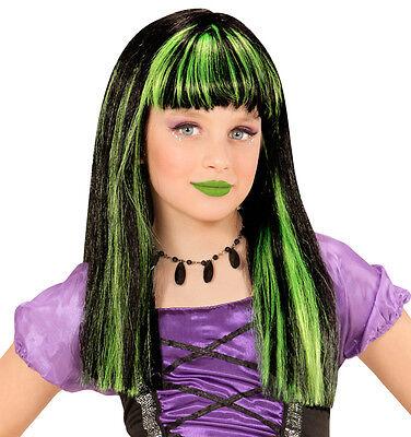 ün für Kinder NEU - Karneval Fasching Perücke Haare (Hexe Perücke)