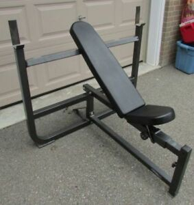 Northern Light Olympic Bench/Squat Rack, Weight Bar