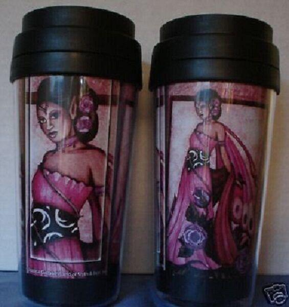 Jessica Galbreth Lavender Rose Fairy Purple Travel Mug Tea coffee Lavendar Cup
