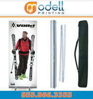 "33"" Wide Retractable Roll up Banner $89 including graphic print"