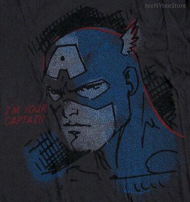 Junk Food Vintage Shirts (Junk Food Captain America Vintage Wash 100% Cotton I'm Your Captain t-shirt NEW)