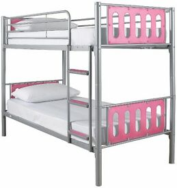 Pink bunkbeds 9months old