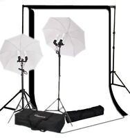 STUDIO KIT PHOTO SHOOT & UMBRELLA LIGHTS & PORTABLE BAG