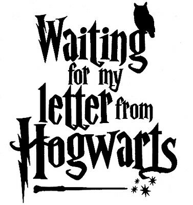 HARRY POTTER WAITING FOR MY LETTER FROM HOGWARTS  CUT VINYL WALL ART STICKER