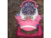 Mothercare Pink Plane Walker