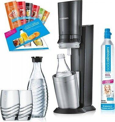 SodaStream Crystal 2.0 Wassersprudler Promopack inkl. Zubehör, Titan