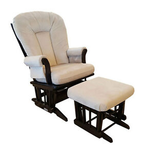 Dutailier Sleigh Glider Rocking Chair and Ottoman