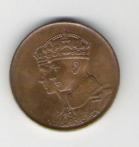 Medallion 1939 Royal Visit Canada Queen Elizabeth