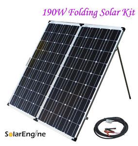 190W Folding Solar Panel Kit camping camper RV