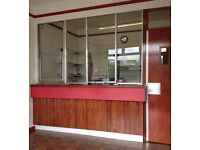 Security counter with toughened glass
