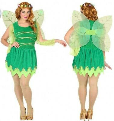 Kostüm Tinkerbell Grün Frau XXL Erwachsene Zeichnung Zeichentrick- - Tinkerbell Kostüm Erwachsene