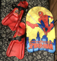 Spiderman Boogie Board Floater,Cars Swimming Flippers pool shoes