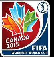 Fifa women's world cup 2015 ticket package. The beautiful game!!