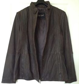 Lakeland Brand New Brown Leather Jacket with tags original price £199.00 sz 12