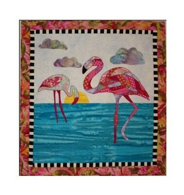 BJ Designs & Patterns Felicia Flamingo Bird Applique Quilt Pattern