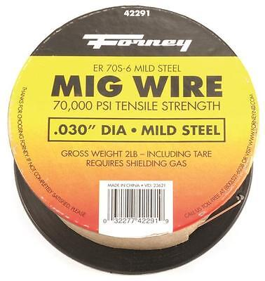 New Forney 42291 Welding Wire 2 Lb Spool .030 Mig Welder 8909848