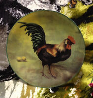 GRYPHONWARE COUNTRY ROOSTER COLLECTOR PLATE HOME DEOCR