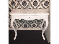 Dressing table / vanity desk - white gloss finish - French shabby chic RRP £200