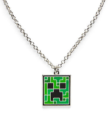 Minecraft Creeper Pendant Necklace Chain Boys Girls Charm | LIMITED RELEASE AUS