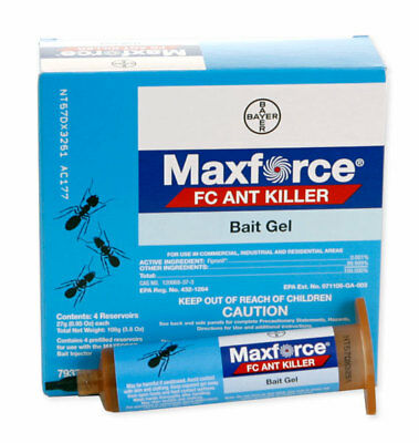 MAXFORCE by Bayer ANT Killer Gel Bait and Arenas/Stations- Free Plunger and Tip!