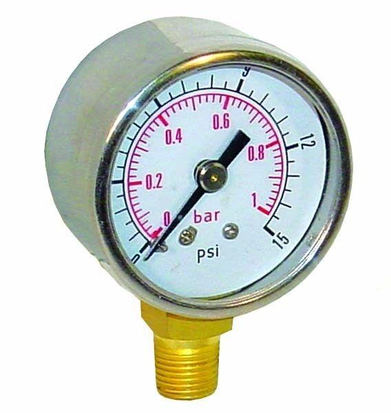 Sytec Fuel Pressure Gauge 0 - 15psi