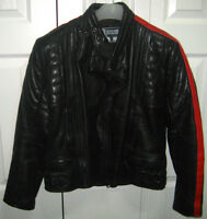 Ladies Black Leather Jacket (Size S)