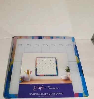 Glass Dry- Erase Board Calendar Etta Vee 12x12