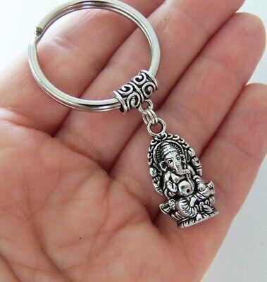 Ganesha keychain, sacred elephant, lord of success, Buddha key ring key holder](Buddha Keychain)