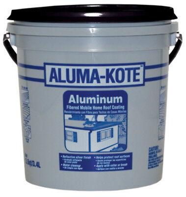 Gardner 6241-GA Aluma-Kote Fibered Aluminum Mobile Home Roof Coating, 3.6