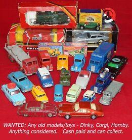 WANTED: Any old models/toys/trains - Dinky, Corgi, Lesney, Spot-On, Hornby, Lima, Matchbox, Bachmann