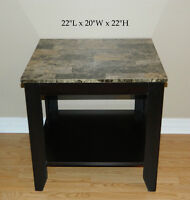 Nesting Tables Wood & End Table Wrought Iron