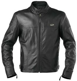 RRP £400 - Axo Brando Men's Motorcycle Leather Jacket - Large