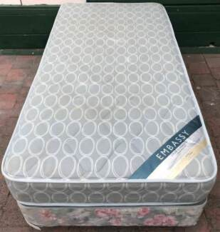 Good condition single bed base with mattress for sale. Pick up or