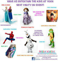 KIDS ENTERTAINMENT, FACE PAINTING, AND COSTUME RENTALS