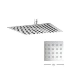Crosswater Glide 300mm Square Fixed Shower Head - FH330SR+