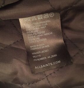 All Saints women's  leather jacket Downtown-West End Greater Vancouver Area image 7