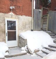 One bedroom basement apartment downtown with laundry!
