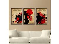 Art: Lord of the Rings Framed Prints x3