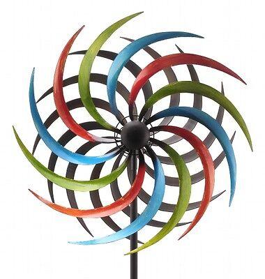 XL Windrad ArtFerro bunt Windspiel Gartenstecker Gartendeko Metall  * H180 * Ø35